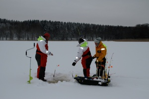 Ice fishing Stockholm