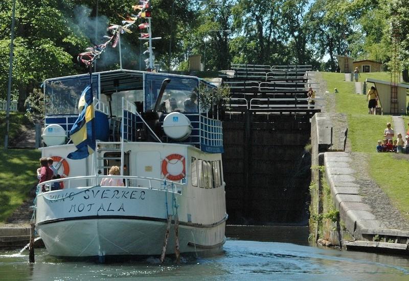 Bootsfahrt Motala - Borensberg
