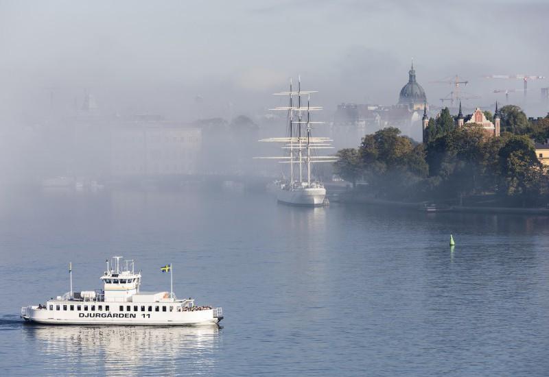 Misty view to Skeppsholmen, Stockholm Photo: Henrik Trygg, VisitStockholm