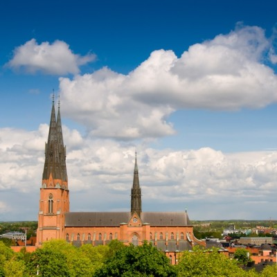 Uppsala cathedral Photo: Mark Harris/imagebank.sweden.se