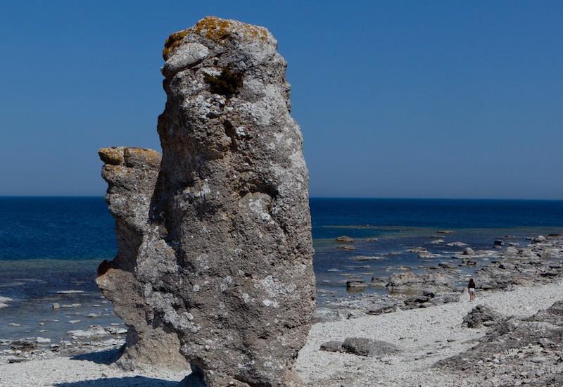 Rauk/limestone on Fårö island, Gotland. Photo: Tuukka Ervasti/imagebank.sweden.se