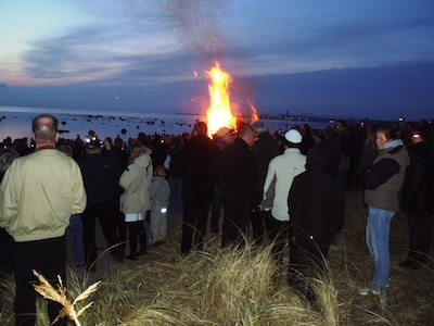 Swedish traditional Walpurgis bonfire