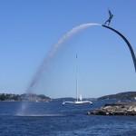Milles Statue Gud Fader in Nacka Strand