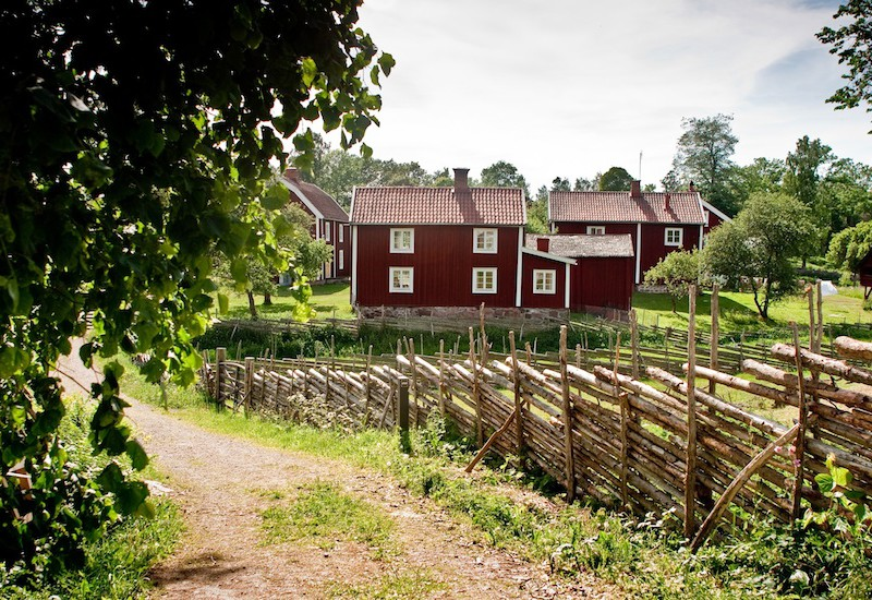 "A very swedish ""röd stuga"" with its red paint and white trimmings. Photo: Tony Töreklint/imagebank.sweden.se"